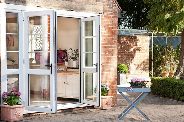 White uPVC French Doors-600x400